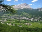 Long panoramic tour of the Dolomites